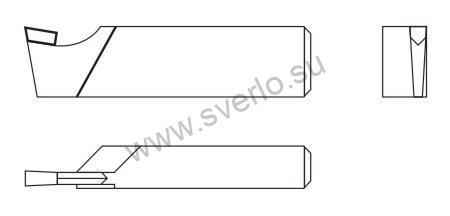 Резец отрезной Т5К10 16х10х100  (2130-0001)