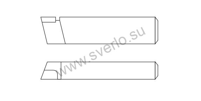 Резец проходной упорный прямой ВК8 25х16х120  (2101-0013)