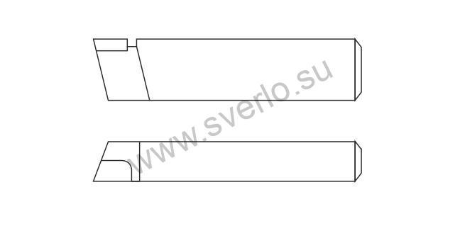 Резец проходной упорный прямой Т5К10 25*20