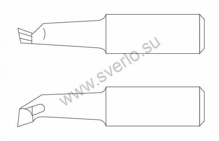 Резец расточной для глухих отверстий Т5К10 20х20х170  (2141-0008)