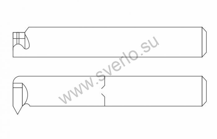 Резец резьбовой ВК8 20х20х200 для внутренней резьбы  (2662-0007)