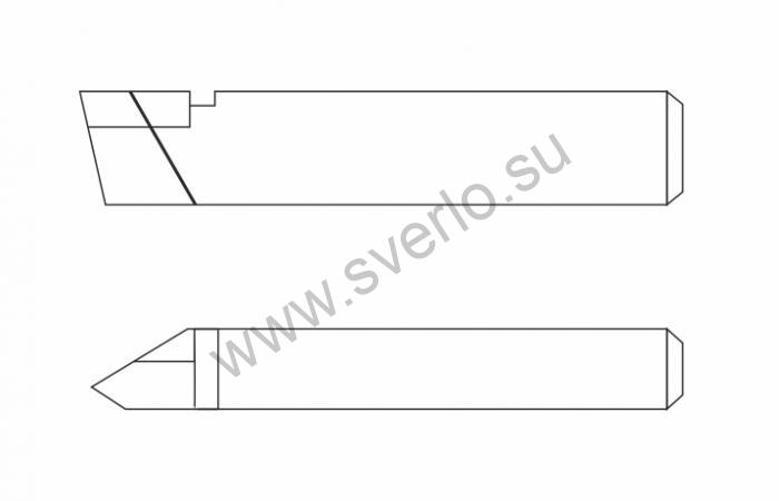 Резец резьбовой ВК8 25х16х140 для наружной резьбы  (2660-0005)