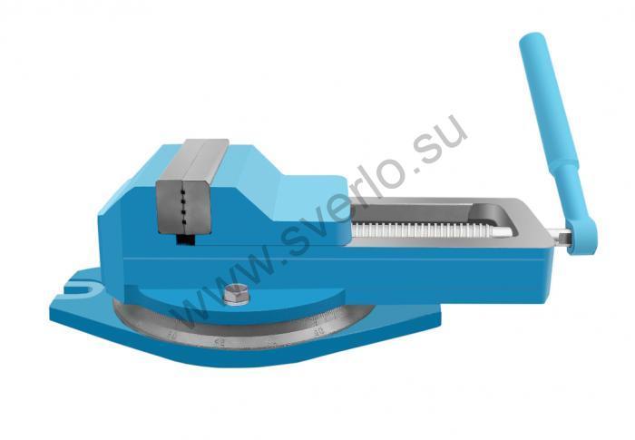 Тиски станочные чугунные поворотные 200 мм ГМ-7220П-02 (Гомель)