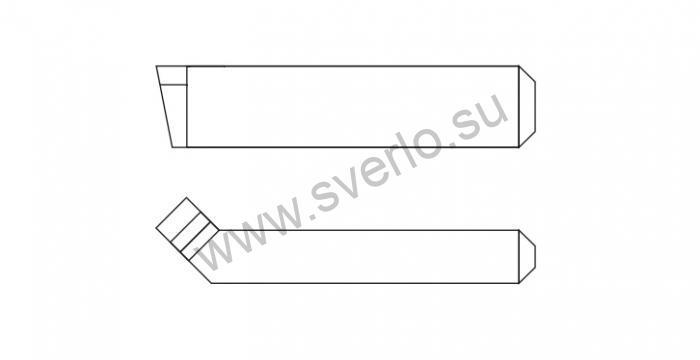 Резец проходной отогнутый   левый     Т15К6 25х16х140 (2102-0006)