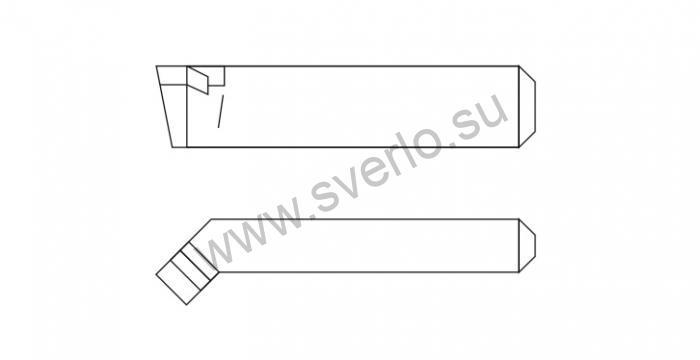 Резец проходной отогнутый   ВК8  20х12х125  (2102-0025)