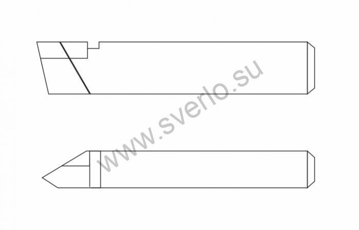 Резец резьбовой Т15К6 25х16х140 для наружной резьбы  (2660-0005)