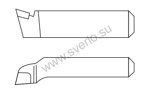 Резец подрезной отогнутый Т15К6 20х12х125  (2112-0053)