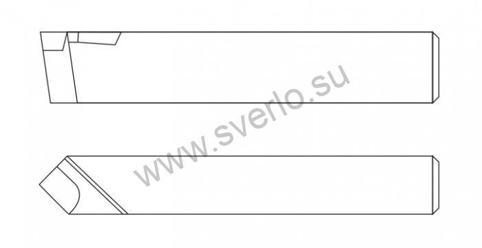 Резец проходной прямой Т15К6 20*20*100