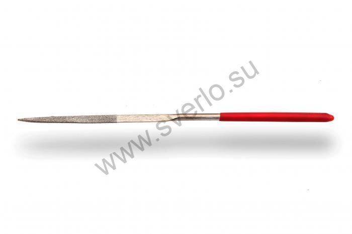 Надфиль алмазный остроносый ножовочный  160 мм форма 09